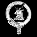 MacGillivray Clan Badge Polished Sterling Silver MacGillivray Clan Crest