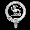 MacFarlane Clan Badge Polished Sterling Silver MacFarlane Clan Crest