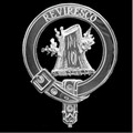 MacEwen Clan Badge Polished Sterling Silver MacEwen Clan Crest