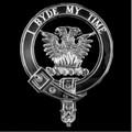 Loudoun Clan Badge Polished Sterling Silver Loudoun Clan Crest