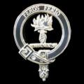 Chisholm Clan Badge Polished Sterling Silver Chisholm Clan Crest