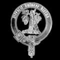 Burnett Badge Polished Sterling Silver Burnett Crest
