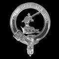 Barclay Clan Badge Polished Sterling Silver Barclay Clan Crest