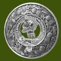 Adair Clan Crest Thistle Round Stylish Pewter Clan Badge Plaid Brooch