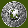 Agnew Clan Crest Thistle Round Stylish Pewter Clan Badge Plaid Brooch