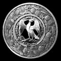 Agnew Clan Crest Thistle Round Sterling Silver Clan Badge Plaid Brooch
