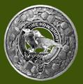 Akins Clan Crest Thistle Round Stylish Pewter Clan Badge Plaid Brooch