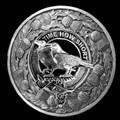 Akins Clan Crest Thistle Round Sterling Silver Clan Badge Plaid Brooch