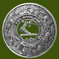 Alexander Clan Crest Thistle Round Stylish Pewter Clan Badge Plaid Brooch
