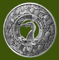 Arbuthnot Clan Crest Thistle Round Stylish Pewter Clan Badge Plaid Brooch