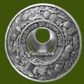 Arnott Clan Crest Thistle Round Stylish Pewter Clan Badge Plaid Brooch