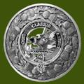 Baillie Clan Crest Thistle Round Stylish Pewter Clan Badge Plaid Brooch