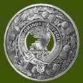 Baird Clan Crest Thistle Round Stylish Pewter Clan Badge Plaid Brooch