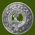 Barclay Clan Crest Thistle Round Stylish Pewter Clan Badge Plaid Brooch
