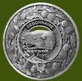 Bethune Clan Crest Thistle Round Stylish Pewter Clan Badge Plaid Brooch