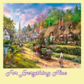 Peasant Village Life Chocolate Box Maxi Wooden Jigsaw Puzzle 250 Pieces