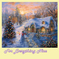 Christmas Cottage Christmas Themed Millenium Wooden Jigsaw Puzzle 1000 Pieces
