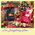 Cosy Christmas Animal Themed Maxi Wooden Jigsaw Puzzle 250 Pieces