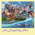 Migration Animal Themed Mega Wooden Jigsaw Puzzle 500 Pieces