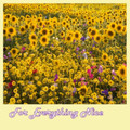 Sunflowers Wildflower Meadow Nature Themed Majestic Wooden Jigsaw Puzzle 1500 Pieces