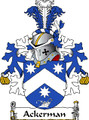 Ackerman Dutch Coat of Arms Large Print Ackerman Dutch Family Crest