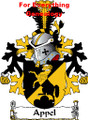 Appel Dutch Coat of Arms A4 Print Appel Dutch Family Crest Print
