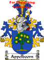 Appelboom Dutch Coat of Arms A4 Print Appelboom Dutch Family Crest Print
