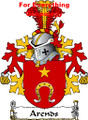 Arends Dutch Coat of Arms A4 Print Arends Dutch Family Crest Print