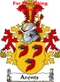 Arents Dutch Coat of Arms A4 Print Arents Dutch Family Crest Print