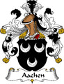 Aachen German Coat of Arms Print Aachen German Family Crest Print