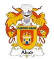 Abad Spanish Coat of Arms Large Print Abad Spanish Family Crest