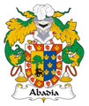Abadia Spanish Coat of Arms Large Print Abadia Spanish Family Crest