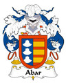 Abar Spanish Coat of Arms Large Print Abar Spanish Family Crest