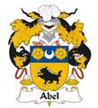 Abel Spanish Coat of Arms Print Abel Spanish Family Crest Print