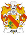 Abril Spanish Coat of Arms Print Abril Spanish Family Crest Print