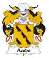 Acedo Spanish Coat of Arms Large Print Acedo Spanish Family Crest