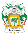 Aceituno Spanish Coat of Arms Large Print Aceituno Spanish Family Crest