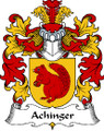 Achinger Polish Coat of Arms Print Achinger Polish Family Crest Print
