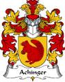 Achinger Polish Coat of Arms Print Achinger Polish Family Crest Print