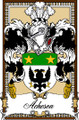 Acheson Bookplate Large Print Acheson Scottish Family Crest Print