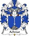 Achmat Polish Coat of Arms Print Achmat Polish Family Crest Print