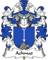 Achmat Polish Coat of Arms Large Print Achmat Polish Family Crest