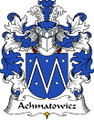 Achmatowicz Polish Coat of Arms Print Achmatowicz Polish Family Crest Print
