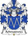 Achmatowicz Polish Coat of Arms Print Achmatowicz Polish Family Crest Print