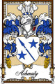 Achmuty Bookplate Print Achmuty Scottish Family Crest Print