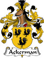 Ackerman German Coat of Arms Print Ackerman German Family Crest Print
