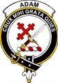Adam Clan Badge Print Adam Scottish Clan Crest Badge