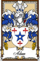 Adam Bookplate Print Adam Scottish Family Crest Print