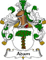 Adam German Coat of Arms Large Print Adam German Family Crest
