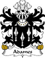 Adames Welsh Coat of Arms Print Adames Welsh Family Crest Print